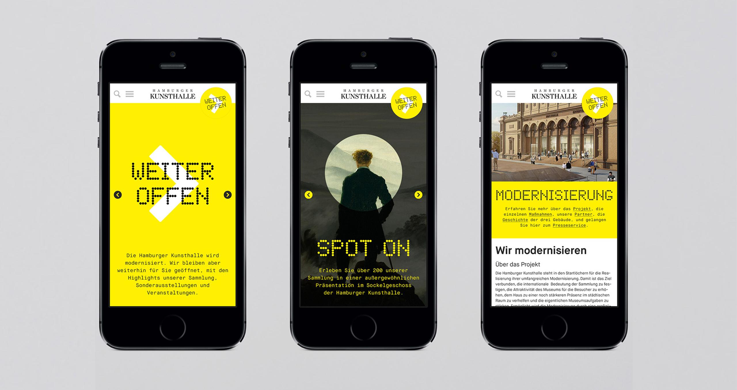Hamburger Kunsthalle: Weiter Offen. Website