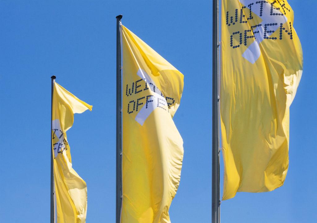 Hamburger Kunsthalle: Weiter Offen. Flaggen