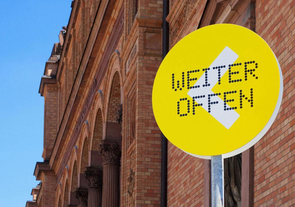 Hamburger Kunsthalle: Weiter Offen. Signage