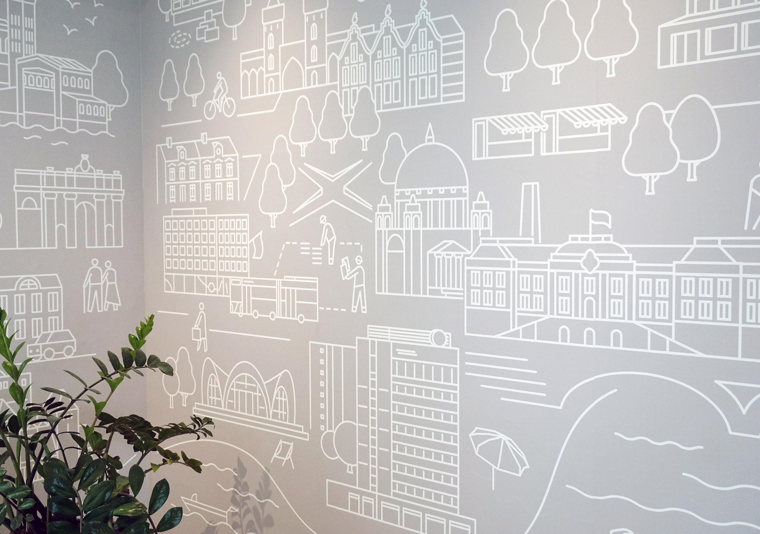 ProPotsdam: Wir machen Stadt, Wandgrafik